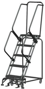 "M-2000 28""d Top Step Ladders,Perforated Treads"