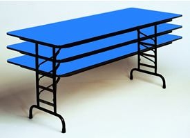 R-Series Adjustable Height Folding Tables
