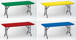 R-Series Fixed Height Folding Tables