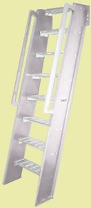 Weld. Alum. Hatch Access Ships Ladder 60 deg IBC