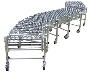 "Extendable Skate Wheel Conveyor, 24""W"