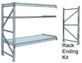 Wide Span Shelving Unit with Three Shelves