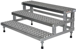2-Step Stainless Steel Adjustable Step-Mate Stands