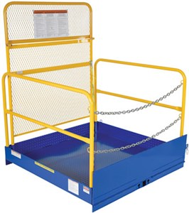 Loading Platforms For Fork Truck W/Handrails