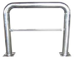 "48""H x 36""L Stainless Steel High-Profile Guard"