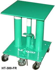 "Ft Oper Hyd Lift Table,18x18,26"" Low,42"" Raised"